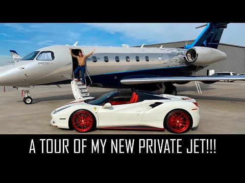 A TOUR OF MY NEW PRIVATE JET!!