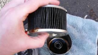 Масляный фильтр Champion C 030 с пробегом 1 811 км,изнутри.