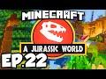 Jurassic World: Minecraft Modded Survival Ep.22 - SO MANY DINOSAUR FOSSILS!!! (Rexxit Modpack)