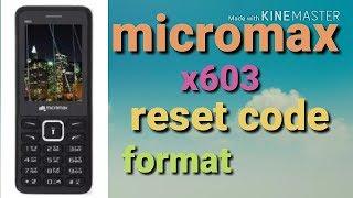 Micromax X377 Reset Password