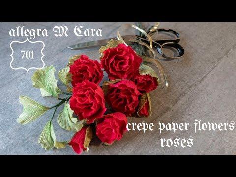 701 DIY Rose Easy Paper Flower / Pro Paper Crafts Tutorial
