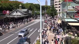 原宿駅 人が多いですJapan Tokyo Harajuku Station Shibuya GAP Flagship 2013