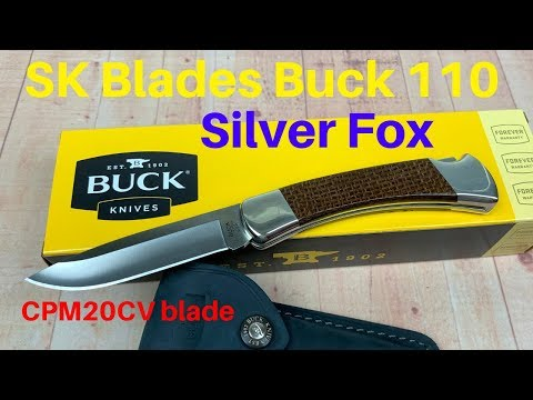 Buck 110 Silver Fox By SK Blades   Traditional Made Tasty !!!
