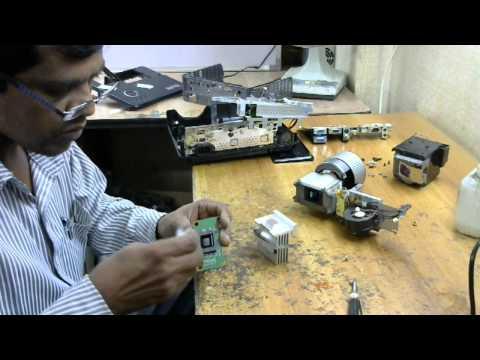 How To Fix White Spots Dlp Projector Display Benq Doovi