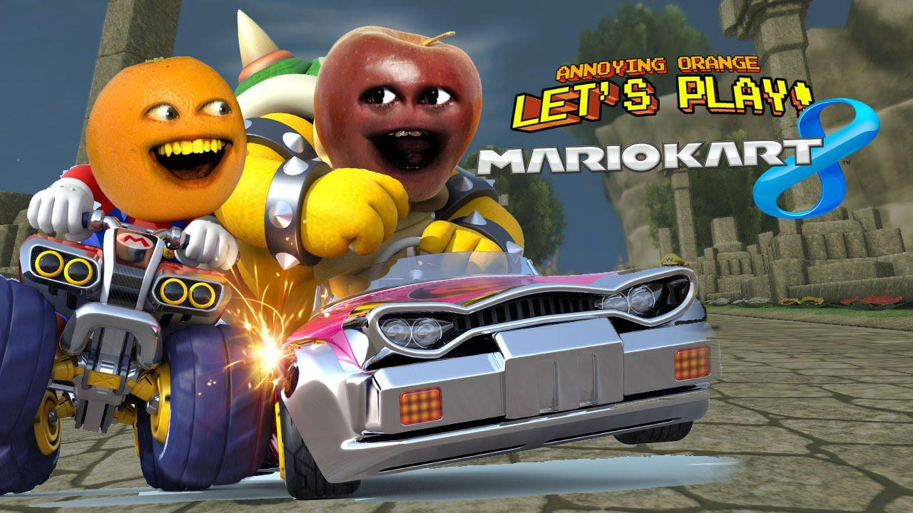 kart apple MARIO KART 8   Annoying Orange vs Midget Apple   YouTube kart apple
