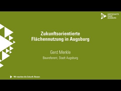 """Immobilienkongress 2021 I Tag 1 I Gerd Merkle """"Zukunftsorientierte Flächennutzung in Augsburg"""""""