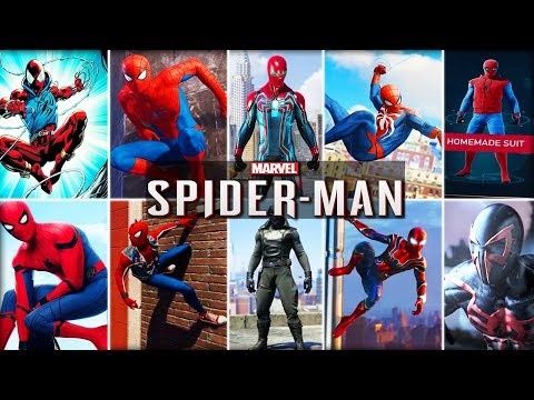 [NEW] PS4 Spider-man All Costumes - Marvel's Spider-man 2018