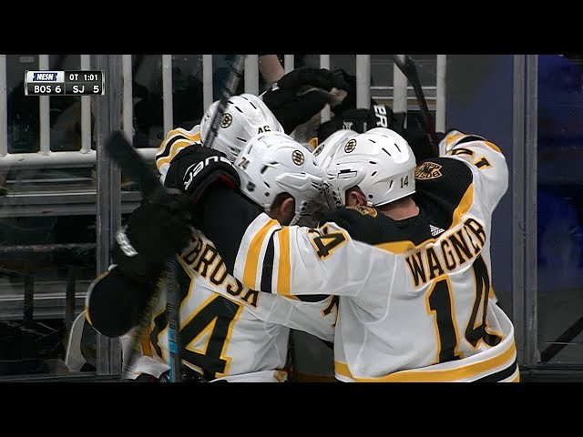 Charlie McAvoy finishes tic-tac-toe for OT winner