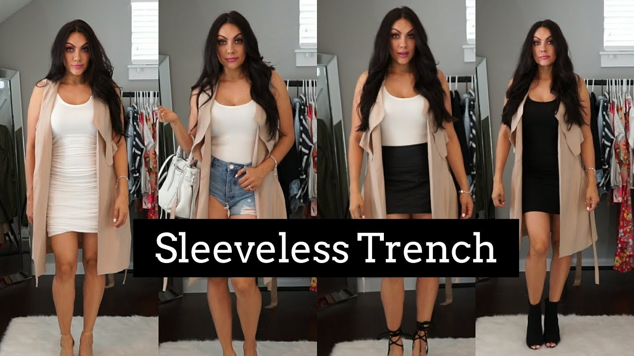 How To Style A Sleeveless Trench Or Long Vest