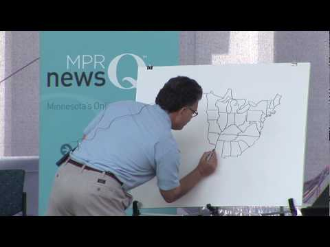 Senator Al Franken draws map of USA
