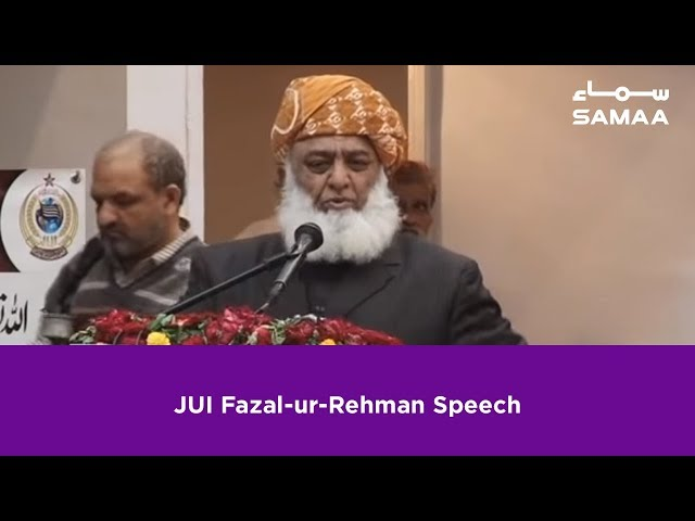 JUI Fazal-ur-Rehman Speech | SAMAA TV | 22 February 2019