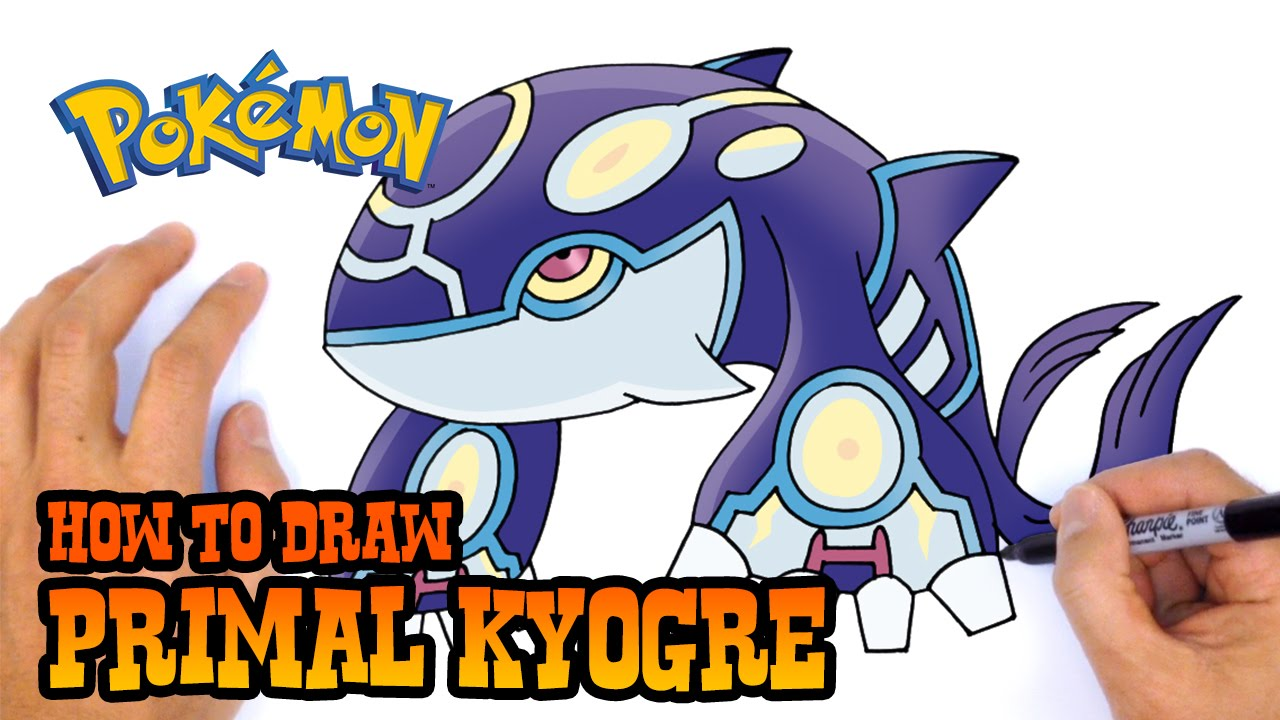 Primal Kyogre how to draw primal kyogre | pokemon - youtube