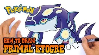 How to Draw Primal Kyogre | Pokemon