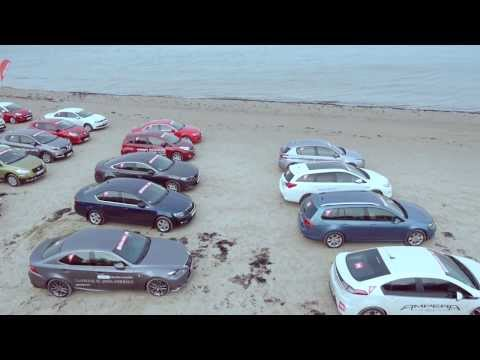 Aerial video from Car of the Year 2014 in Latvia