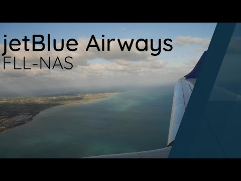JetBlue Embraer E190 Full Flight - Fort Lauderdale to Nassau (JBU2393)