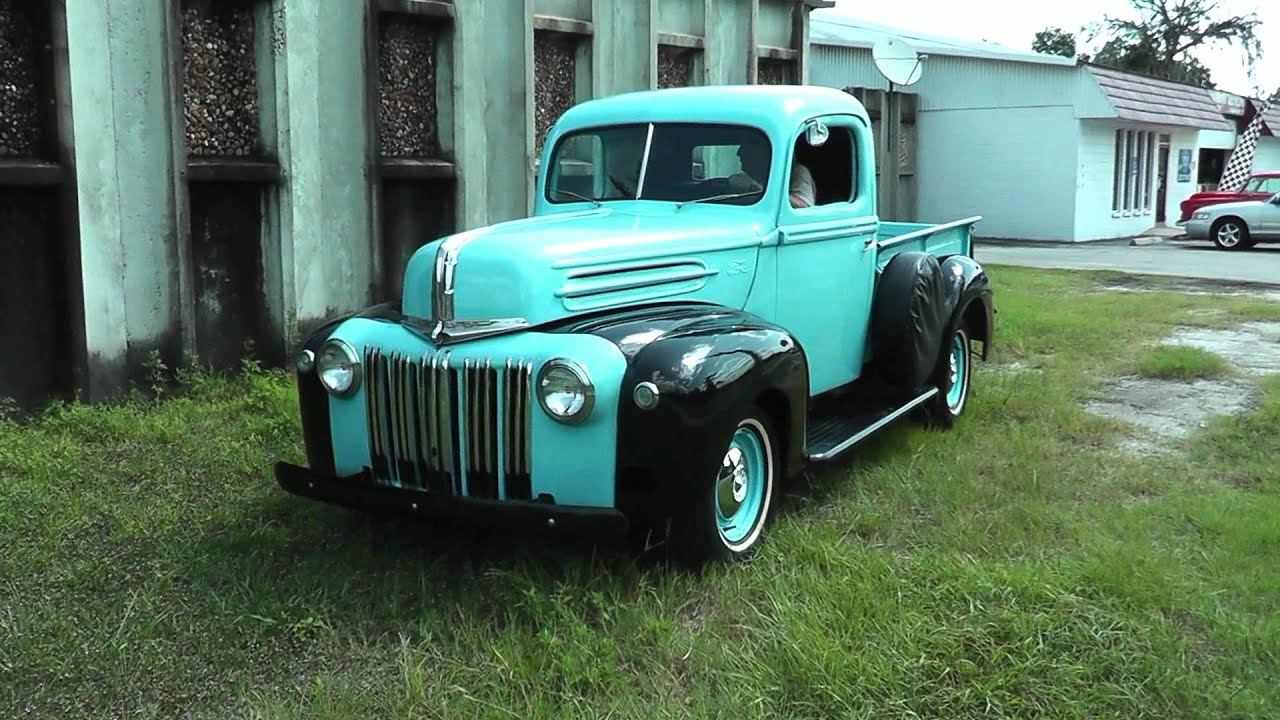 1946 Ford F1 Short Wheelbase PickupTruck  YouTube