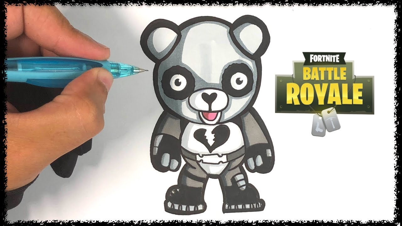 Comment dessiner le SKIN PANDA - FORTNITE - YouTube