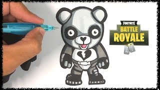 How to draw the SKIN PANDA - FORTNITE