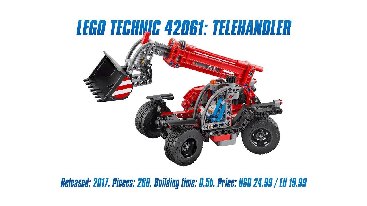 lego technic 42061 telehandler unboxing speed build review 4k youtube. Black Bedroom Furniture Sets. Home Design Ideas