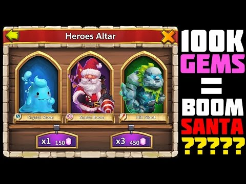 Castle Clash: Rolling 100k Gems For Santa + Join Dirty Empire