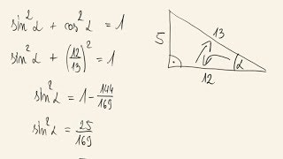 Matura poprawkowa - zadanie 13 - trygonometria