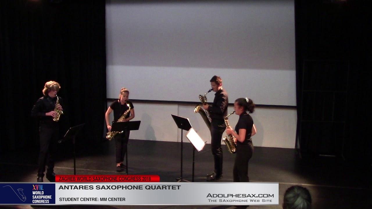 La Muerte del Angel by Astor Piazzolla Arr  Van der Linden    Antares Saxophone Quartet   XVIII Worl