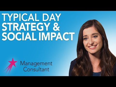 Management Consultant: Typical Day - Alanna Hughes Career Girls Role Model