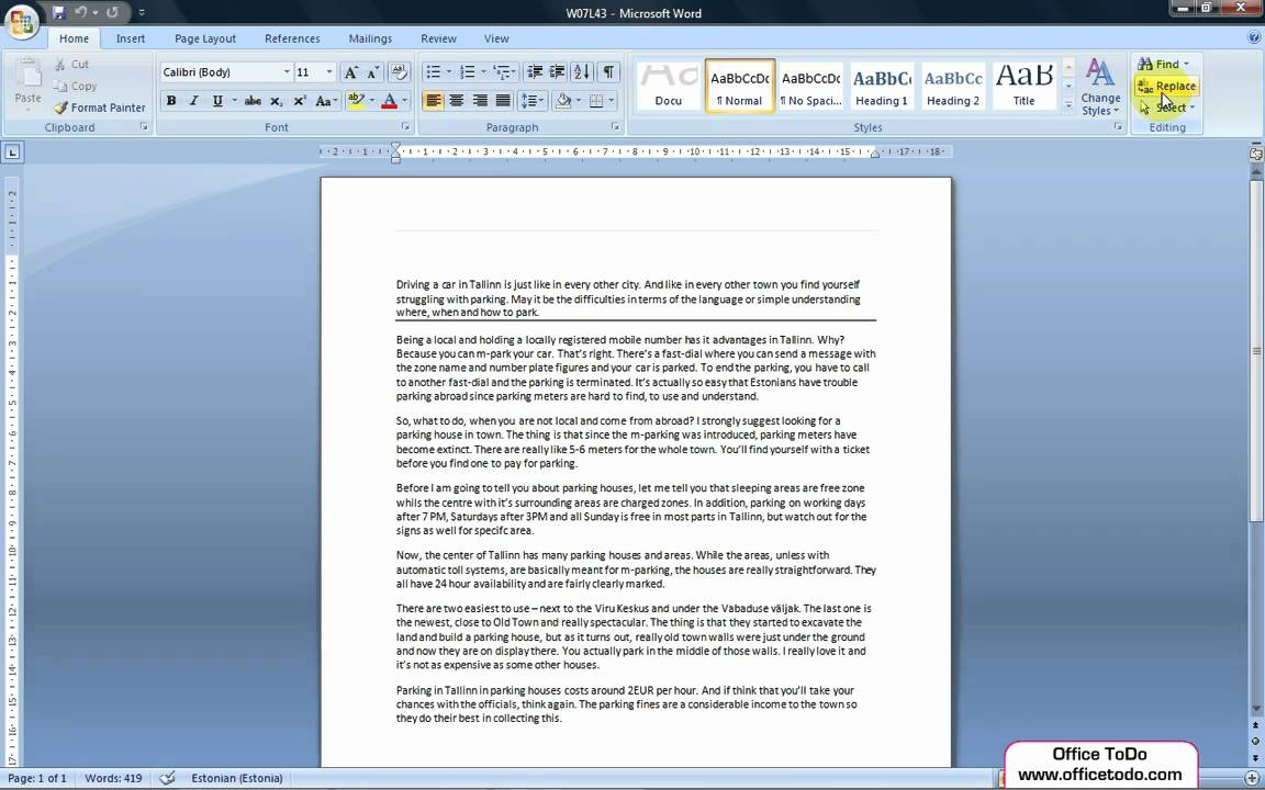Word | How to easily replace words in a Word document ...