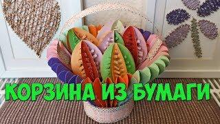 DIY - Easter eggs basket - Корзина для 3D яиц на пасху из бумаги - оригами своими руками diy