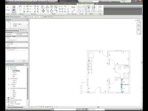 Revit tutorial Electrical plan part 1