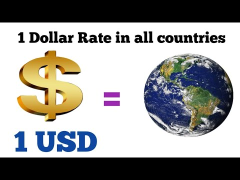What $1 USD Equals Around The World | Dollar Rate | Forex Exchange Rate Today | Usd To Pound