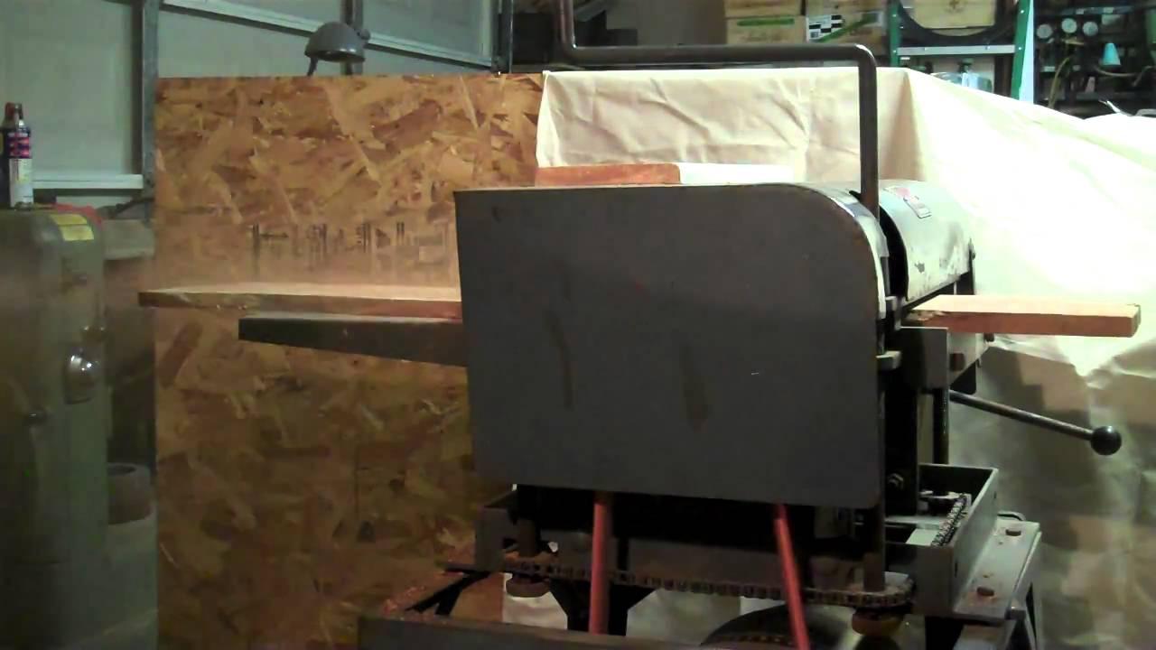 running a vintage belsaw 12 inch planer - model 910