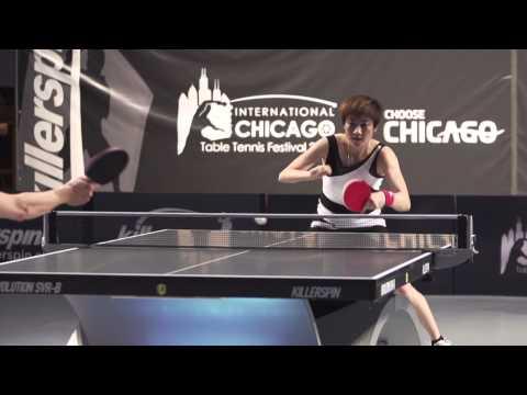 Killerspin Chicago International Table Tennis Festival 2012 - Slow Motion Studies - Ding Ning Part 2