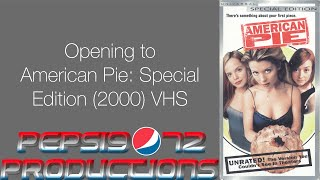 Opening to American Pie: Special Edition (2000) VHS
