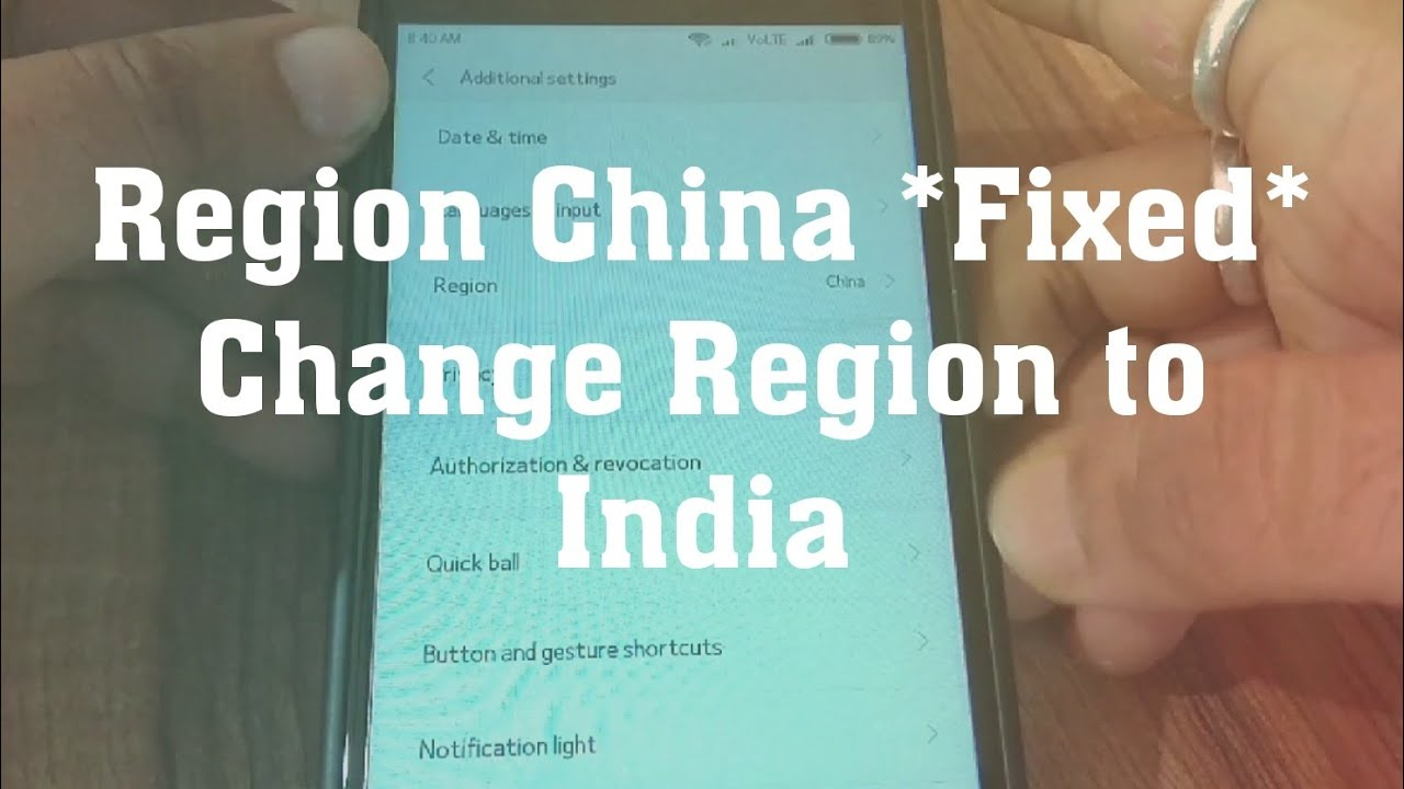 region changes to China Fixed |how to change region to India in MIUI