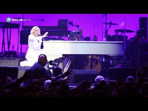 Lady Gaga performs You and I at Harvey relief concert at Texas A&M
