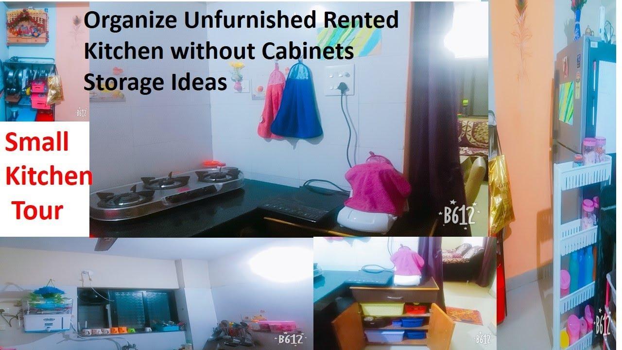 My Indian Kitchen Tour Organize Small Kitchen Without Cabinets Kitchen Storage Ideas