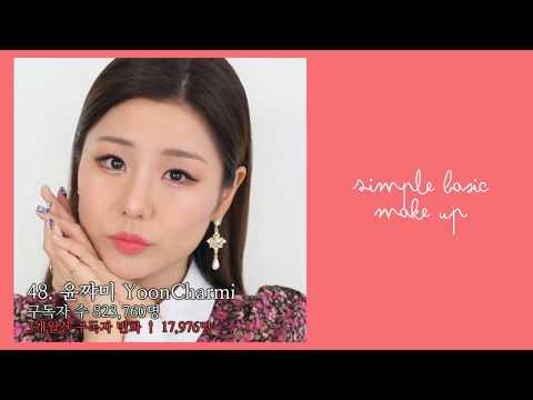 한국 유튜버 구독자 수 순위 TOP 50 (2018년 1월)