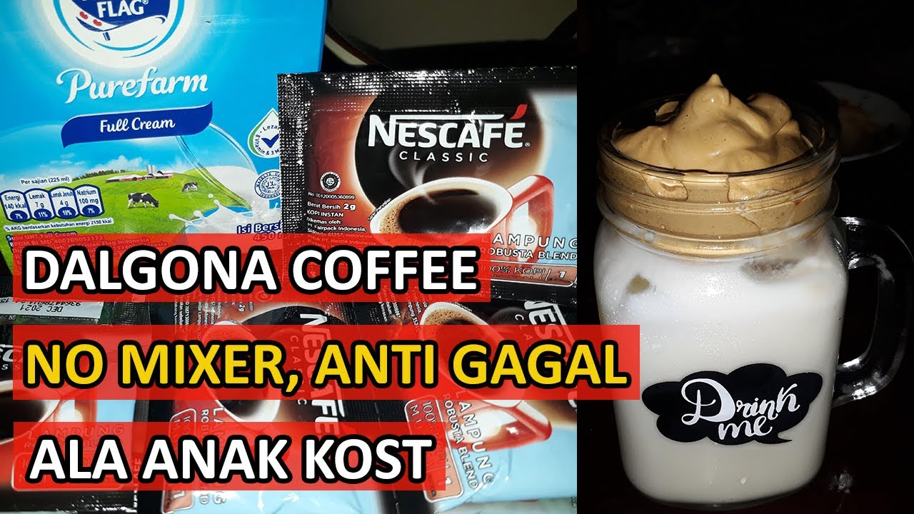 Cara Membuat Dalgona Coffee Dengan Nescafe Original