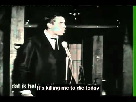 Jacques Brel Le Moribond Live English Subtitles - YouTube.flv