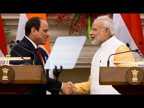 PM Modi and Egyptian President Abdel-Fattah el-Sissi Joint Press Conference