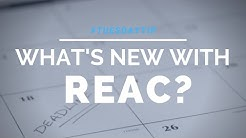 #TuesdayTip: What's New with REAC?