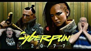 #Cyberpunk2077 Cyberpunk 2077 Full Gameplay Reveal Reaction! GOTC?! 48 Minute Walkthrough REACTION!