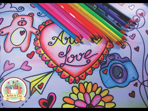 Como Desenhar E Colorir Tumblr Love Speed Drawing Youtube