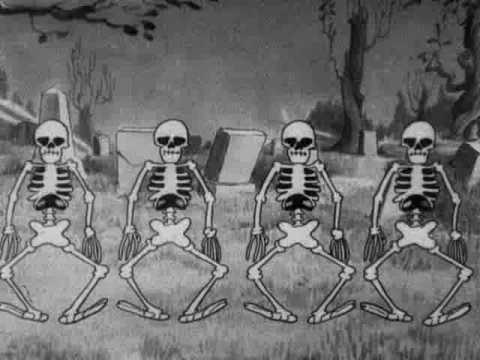 Silly Symphony - The Skeleton Dance [sent 160 times]