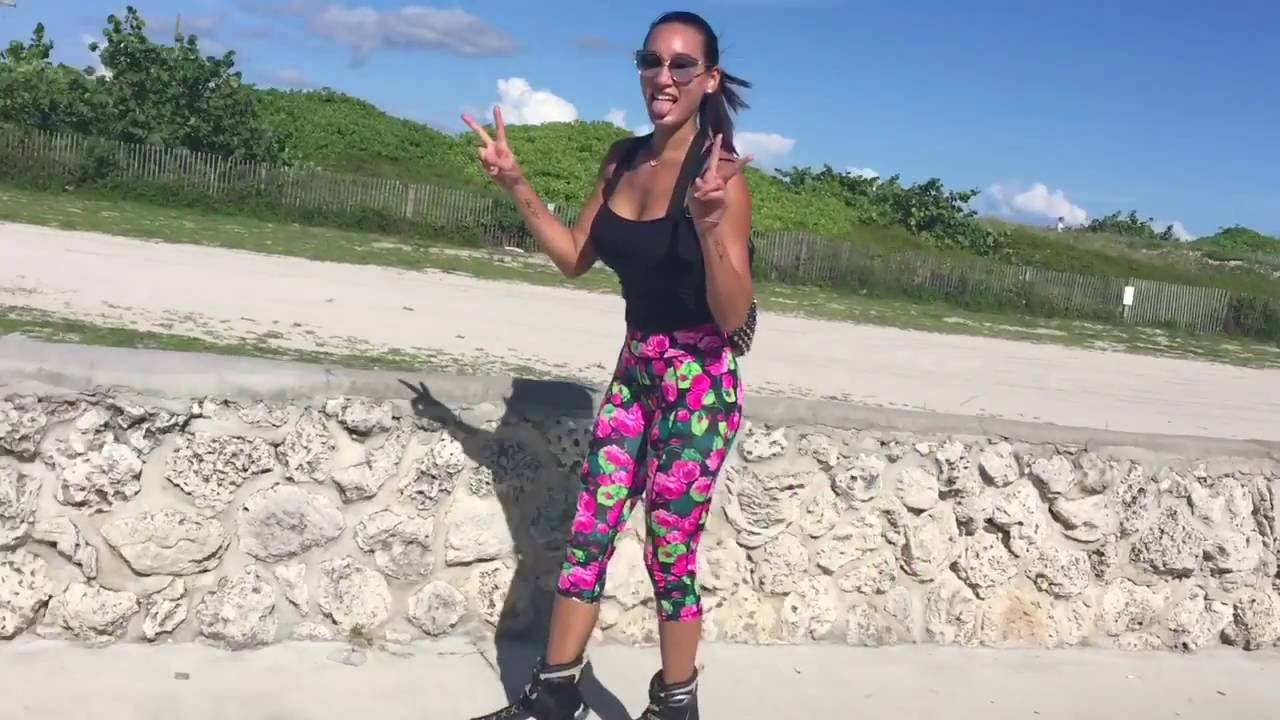 Rollerblading In Miami Beach