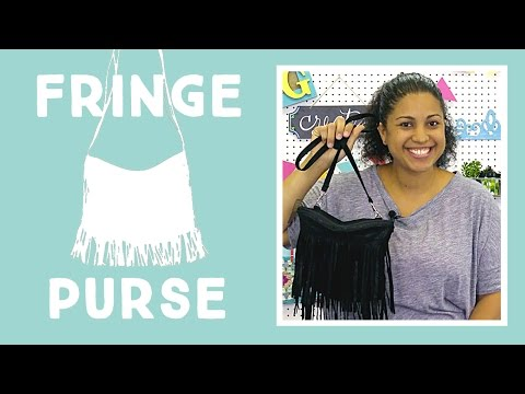 Faux Leather Fringe Purse: Easy Craft Tutorial with Vanessa of Crafty Gemini Creates