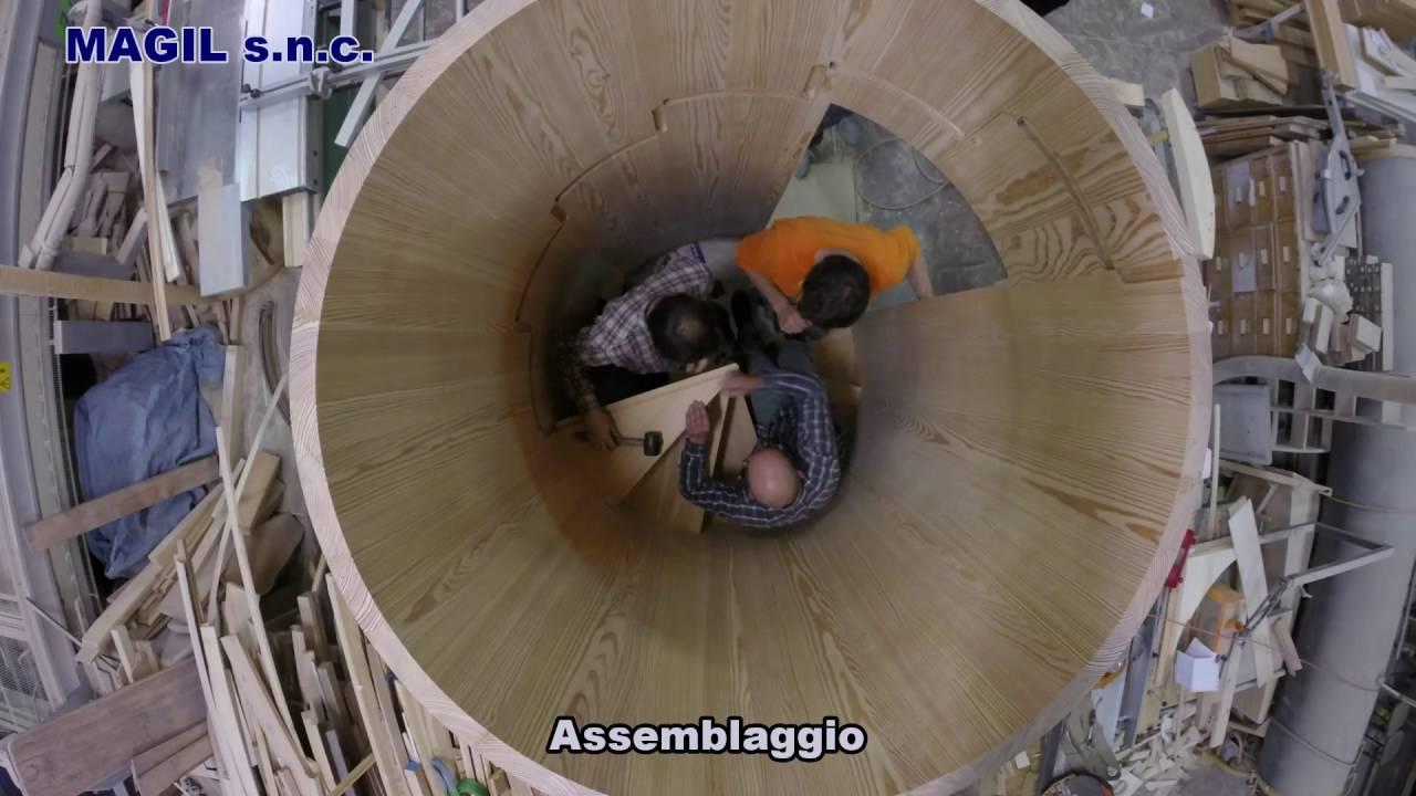 Scala a chiocciola in legno di larice magil made in italy for Scala a chiocciola di 5 piedi