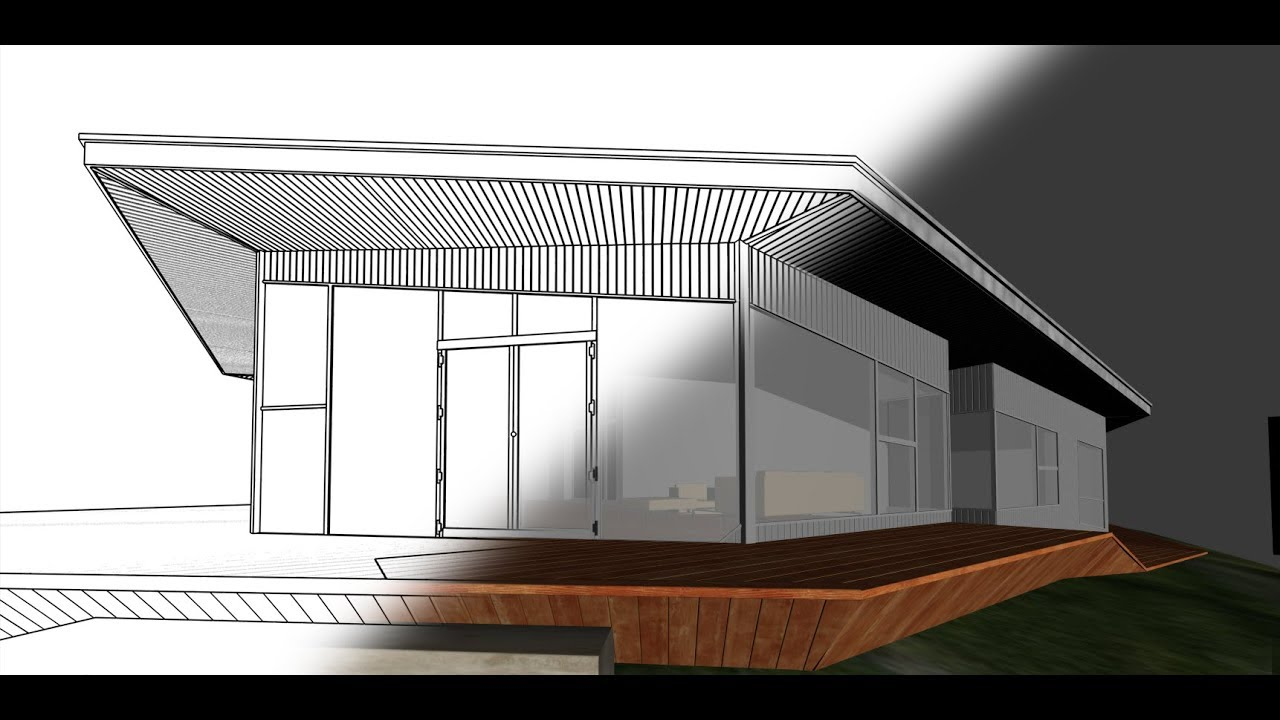Rendering plans and elevations from 3Ds max