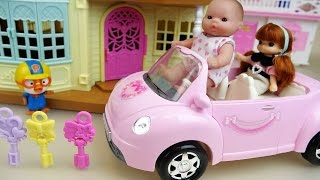 Secret key House and Baby doll car toys play